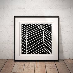 Modern Art Square Printable Poster. Black and White Lines. Minimalist, Modern, Abstract Digital Wall Art Poster. Home - Office Decoration