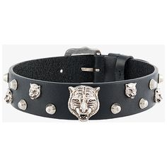 Gucci feline head studded choker (3.705 RON) ❤ liked on Polyvore featuring jewelry, gucci, gucci jewellery, chunky jewellery, studded jewelry and chunky jewelry