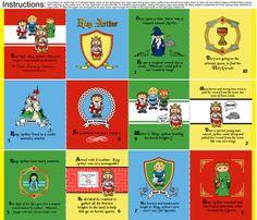 Little King Arthur Quiet Cloth Fabric Baby book fabric by littleliteraryclassics on Spoonflower - custom fabric