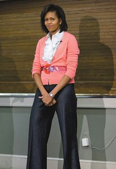 Michelle Obama casual fashion.