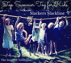 Favorite summer activity: SLACKLINE. So many developmental and therapeutic benefits!