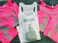 Disney Bachelorette Tanks Disney Wedding Disney by thelittleozshop                                                                                                                                                                                 More