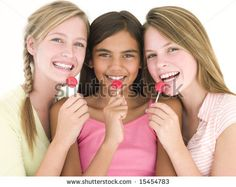 Image from http://image.shutterstock.com/display_pic_with_logo/187633/187633,1217238590,1/stock-photo-three-girl-friends-with-suckers-smiling-15454783.jpg.