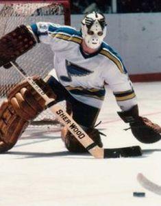 Louis Blues goaltending history : Ed Staniowski Hockey Helmet, Ice Hockey Teams, Hockey Goalie, Hockey Games, Field Hockey, Hockey Sport, Rangers Hockey, Goalie Mask, St Louis Blues