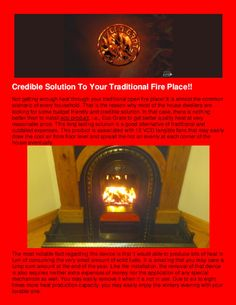 To know the details about an that can bring specialty in your open fire read the PDF Presentation in the link below . Eco Products, Open Fires, Bookends, Household, Presentation, Pdf, Traditional, Link, Places