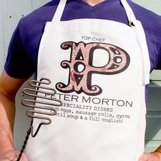 Thank you to my Brother in law Matthew for acting as body double for new apron design which has been created for my own Brother Peter!!