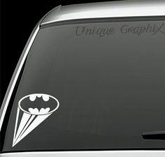 Batman signal vinyl decal window sticker by UniqueGraphix on Etsy, $4.00