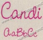 Brynnley's favorite font! Candi Alphabet Set-3 Sizes Embroidery Design by 8Clawsandapaw.com!