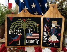 "NEW! #275  ""Choose Ye Liberty"" Wool Appliqué"