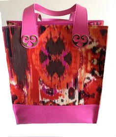 ikat and genuine leather.. perfect mix for summer..MaryAnn-Lou bags
