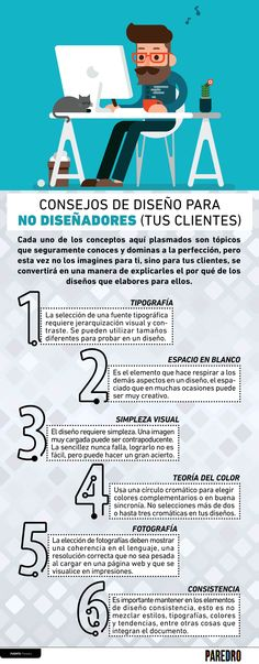 Consejos de diseño para no diseñadores (tus clientes) #infografia