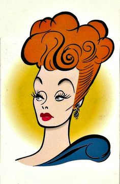 """Al Hirschfeld Caricature of Lucille Ball. """"Here's Lucy"""" Cartoon Drawings, Cartoon Art, Lucy And Ricky, Ghost House, Ball Drawing, Caricature Drawing, Celebrity Caricatures, Lucille Ball, I Love Lucy"""