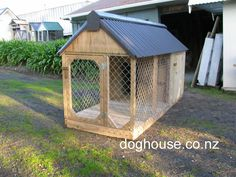 dog house outdoor dog puppy houses kennels and runs auckland rh pinterest com