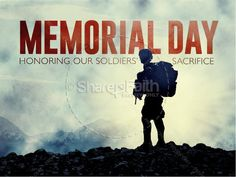 This stunning Memorial Day graphics powerpoint for Memorial Day holiday is great for your service needs. Available in HD, SD, Photoshop and individual slides, this Memorial day graphics communicates the message well. #Sharefaith