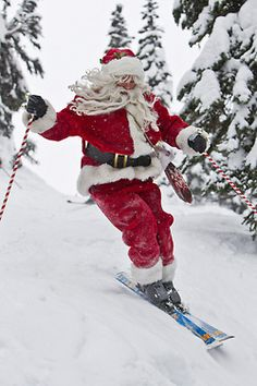 Skiing Santa (by whistlerblackcomb)