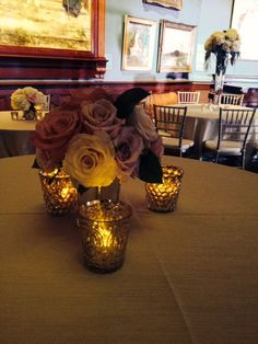Simple centerpieces at Telfair Academy