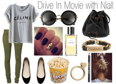 """""""Drive in Movie with Niall"""" by wtf-towear ❤ liked on Polyvore"""