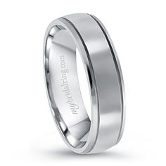 This classic, 5mm comfort fit wedding band is crafted in 14k white gold. Promise Ring!! - Beautiful, sweet and meaningful gift of love. Style#: MBR - R6376, Our Price: $689.99, Made in USA - Free FedEx Shipping - http://www.mybridalring.com/Mens/dual-groove-mens-engagement-band/