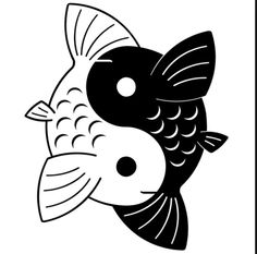 Yin Yang Koi by Yurayah on deviantART Yin Yang Tattoos, Tatuajes Yin Yang, Pisces Tattoos, Yin Yang Fish, Ying Yang, Arte Yin Yang, Japanese Tattoo Designs, Design Tattoo, Heart Tattoo Designs