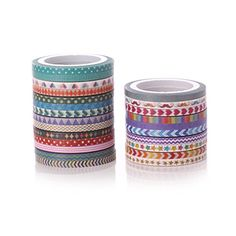 Amazon.com: AGU Set Of 24 Cute 3mm Slim Masking Washi Tape For Decoration And DIY Craft: Office Products