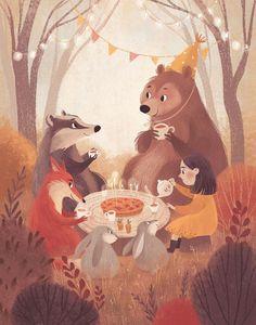 Autumn Illustration, Children's Book Illustration, Book Illustrations, Watercolor Illustration Children, Doodle Drawing, Plakat Design, Pics Art, Storyboard, Cute Art