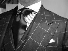 WIWT check suit Dapper Gentleman, Dapper Men, Gentleman Style, Sharp Dressed Man, Well Dressed Men, Black And Grey Suit, Suit Shoes, My Unique Style, Men Style Tips