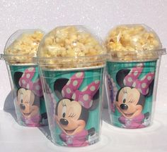 You will receive (8) Super Cute Party Cups with Dome Lid. You can add anything such as candy, popcorn, fruit etc. in these Super Cups Party Favor