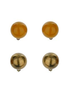 Mustard Gold Stud Earrings        Price: £5.00