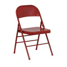 HERCULES Series Triple Braced & Quad Hinged Red Metal Folding Chair | FoldingChairs4Less.com