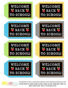 Welcome Back to School Printable Teacher Appreciation Tags - Sunshinetulipdesign