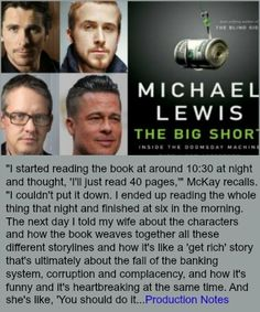 How About Those Credit Default Swaps: THE BIG SHORT Movie Credit Default Swap, The Big Short, Michael Lewis, Apply For A Loan, Unsecured Loans, Visa Card, Financial Institutions, How To Get Rich, Credit Score