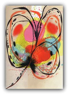 Flower Abstract Painting Original Painting on by ChristinaRomeo, $42.00