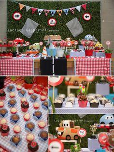 Festa Carros - decoração mini mimo festas