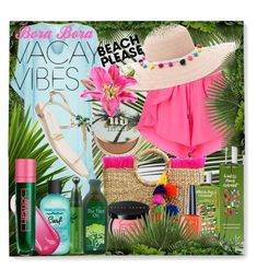 Beach Please: Vacay Outfit by igiulia on Polyvore featuring Seafolly, Giuseppe Zanotti, JADEtribe, Lipstick Queen, Urban Decay, Bobbi Brown Cosmetics, Innisfree, Bumble and bumble, OPI and Summer