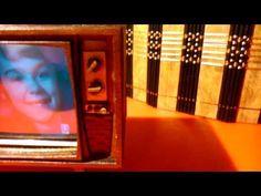 Working retro miniature dollhouse TV - YouTube