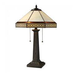 Dimond Lighting D1858 Stone Filigree 2 Light Table Lamp