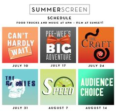 Summerscreen at McCarren: July 10 -- Can't Hardly Wait; July 24 -- The Craft