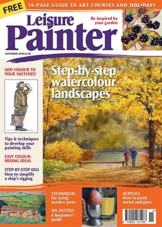 Taken from her new book - Essential Guide to Flower and Landscape Painting - Donna Dewberry shows how to use simple brush strokes to paint a variety o. Art Courses, Landscape Paintings, Your Paintings, Watercolor, Painter, Step By Step Watercolor, Art, Watercolor Landscape, Color Mixing