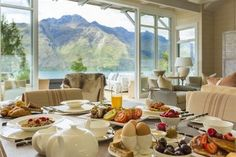Off the Beaten Path: New Zealand - Early morning breakfast in the Owner's Cottage! Mountain views are stunning! #samesexwedding #gaydestinationweddings