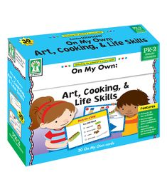 CenterSOLUTIONS® On My Own: Art, Cooking, & Life Skills includes 30 fun and colorful activity cards plus 3 dividers. The activity cards feature simple step-by-step instructions drawn for each step of the project, perfect for providing independent activity ideas. The combination of pictures and simple words or phrases will help readers and nonreaders alike. Each activity is shown in completion, and is then  followed by a checklist of materials needed, plus step-by-step directions.