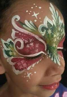 Christmas mask face paint