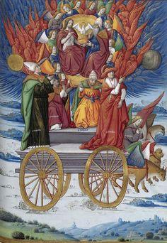 Les Triomphes de Pétrarque. Traduction rouennaise anonyme. 1470. (Ms offert par G. d'Amboise à Louis XII Rouen en 1503). Ms Français 594. BnF. [Les Triomphes de l'Éternité]