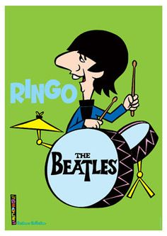 BEATLES  Ringo Starr  HannaBarbera  design  repro by tarlotoys, €10.00