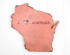 LOVE THESE! Order your favorite state, and they make a rustic wood sign personalized for you.
