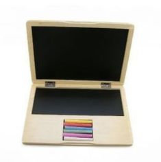 "wooden ""laptop"" blackboard chalk"