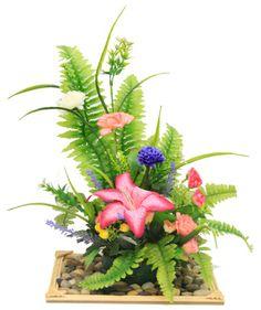 Arreglo floral. Centro de mesa con flores para bodas. Manualidades / Día de las madres / 10 de mayo / Regalo para mamá