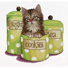Thea Gouverneur counted-cross-stitch Kit Cookie Time On Aida