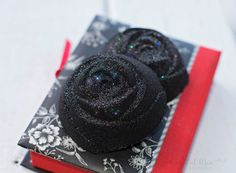 A personal favorite from my Etsy shop https://www.etsy.com/listing/472465848/black-rose-glitter-bath-bomb-black