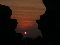 Phnom Bakheng Sun set view
