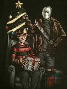 Freddy and Jason During Christmas Very Scary f87f0703d